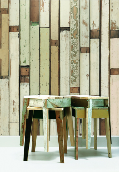 Scrapwood wallpaper by Piet Hein Eek 1&2