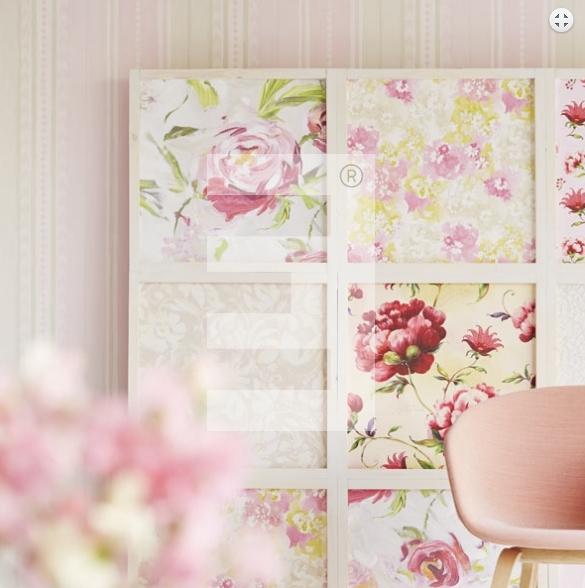Behang roze sterren interieur meubilair idee n - Deco romantische kamer beige ...