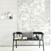 Black & Light Eijffinger Wallpower Wolly 356209 - Black & Light Eijffinger Wallpower Concrete Flowers 35220