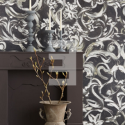 Black & Light Eijffinger Wallpower Filigrain onyx 356208