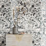 Black & Light Eijffinger Wallpower Painted Lace 356204