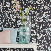 Black & Light Eijffinger Wallpower Painted Petals 356219