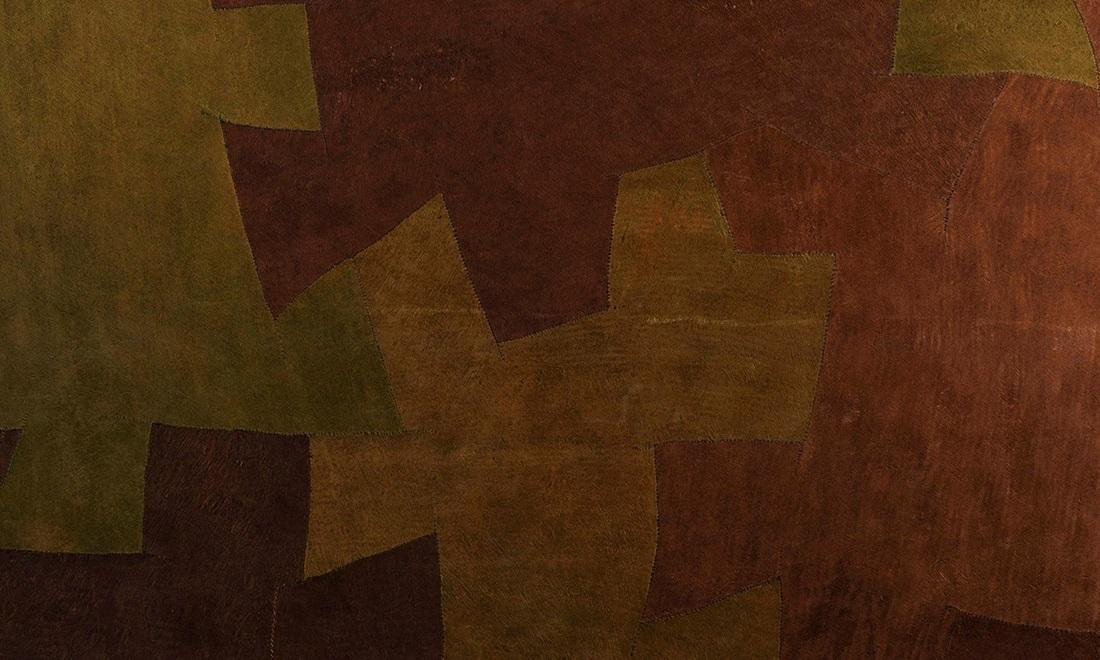 Bark Cloth, Arte, Green brown Bark 3002